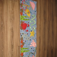 Мастер-класс изготовления развивающего массажного коврика «Подводный мир»