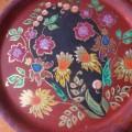 Открытое занятие «Роспись круглого подноса хохломским узором»— фотоотчет