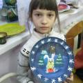 Роспись тарелочки «Зимняя сказка».