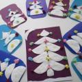 Мастер-класс для родителей с детьми средней группы «Новогодняя открытка из ватных дисков и салфеток»