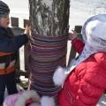 Экологическая акция в детском саду «Одень дерево» (фотоотчет)
