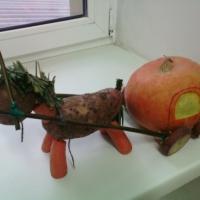 Фотоотчет о выставке поделок из природного материала «Осеннее очарование»