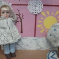 Одежда для куклы-наглядное пособие в экологический уголок