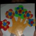 Мастер-класс поделки из цветного картона «Мамино счастье»
