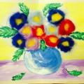 Мастер класс для педагогов. Рисование с элементами аппликации шерстью «Пушистые цветочки»