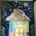 Новогодняя открытка с элементами печворка (младшая группа)