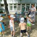 Фотоотчёт о проведении летнего развлечения «В гости солнышко пришло»