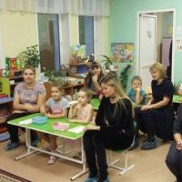 Фотоотчет о первом занятии для детско-родительской группы в рамках проекта «Скоро в школу!»