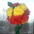 Мастер-класс с пошаговыми фото Ко Дню 8 марта «Цветочное дерево»