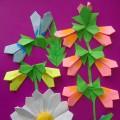 Мастер-класс по оригами «Полевых цветов букет»
