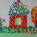 «Сказочные домики». Творчество детей старшей группы. Пластилинография