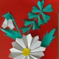 «Цветы для мамы». Творчество детей старшей группы в технике оригами