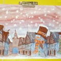 Необычное рисование «Я построил снеговика»