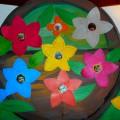 Мастер-класс по изготовлению коллективной работы в технике аппликации и рисования «Мамины цветочки»