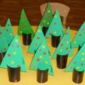Мастер-класс поделки из цветного картона «Новогодняя елочка для самых маленьких ребят»