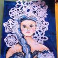 Мастер-класс: коллективная работа с детьми «Красавица Зима в гости к нам пришла»
