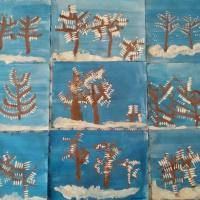 Конспект ООД по рисованию в старшей группе «Деревья в инее»