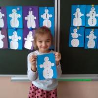Конспект ООД по аппликации «Снеговик»