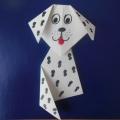 Конспект занятия «Мой щенок». Оригами из бумаги с элементами рисования в средней группе