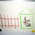 Рисование красками «Заборчик для зайчика» (младший дошкольный возраст)
