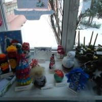 Фотоотчет «Выставка новогодних поделок»