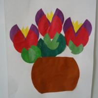 Детский мастер класс по аппликации «Весенние цветы»