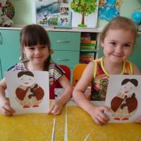 Детский мастер-класс по аппликации «Кукла Маша»