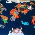 Дидактическая игра «Карта мира для малышей»