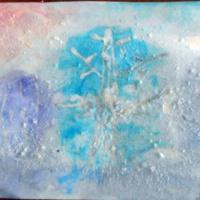 Конспект занятия в нетрадиционной технике рисования барьерной живописи в подготовительной группе «Зимний пейзаж»