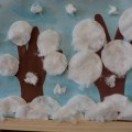Мастер-класс «Деревья в снегу» с пошаговым фото (аппликация с использованием нетрадиционных техник)