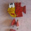 Подвеска из солёного теста «Рыбка желаний»