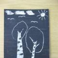 Выставка детских работ в технике «граттаж» «Сохраним нашу планету!»