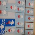 Аппликация во второй младшей группе «Снеговик»