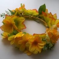 Мастер-класс «Осенний венок из искусственных цветов» для праздника в группе