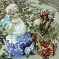 Визитная карточка пособия «Куклы-подружки Гжелька и Хохломушка»