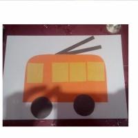 Конспект НОД по аппликации «Троллейбус»