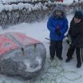 Скульптуры из снега и льда. Зимнее оформление участка