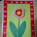 Мастер-класс «Гербера из пряжи в подарок на День матери»