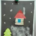 Детские работы по теме «Зима»