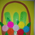 Мастер-класс по аппликации «Корзина с цветами»