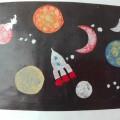 Фотоотчет «Художественное творчество детей подготовительной группы по теме «Космос»
