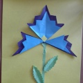 Мастер-класс по оригами «Василек»