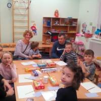 Мастер-класс с родителями и детьми «Роспись дымковской игрушки»