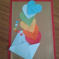 Мастер-класс к Дню матери «Открытка для мамы». Аппликация из цветного картона и бумаги