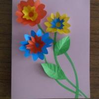 Мастер класс по изготовлению открытки с сюрпризом «Открытка для мамы»