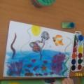 Конспект открытого занятия по изобразительной деятельности в старшей логопедической группе «Подводный мир»