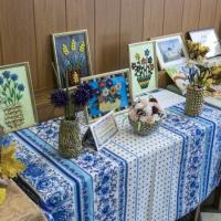 «Мир цветов из макарон». Фотоотчет о выставке творческих работ педагогов
