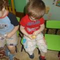 Непосредственно-образовательная коммуникативная деятельность детей «Бабушкины клубочки» (первая младшая группа)