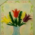 Аппликация «Букет весенних цветов в вазе»
