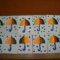 НОД по аппликации с элементами лепки «Радужные зонтики под дождиком»
